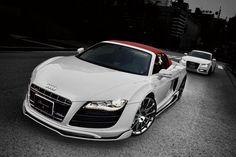 Audi R8 Spyder White Wolf Edition — car auto tuning vehicle sportscar racing