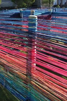 Yarn Maze! How fun! We will have to try this here at Sunrise Learning Lab. Idea and maze from Crafty Crow.