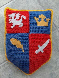 Crochet Knight Pillow