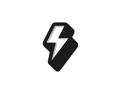 Thunder designed by George Bokhua. Connect with them on Dribbble; Typography Logo, Typography Design, V Logo Design, Lightning Logo, Banner Design Inspiration, Website Logo, Pictogram, Cool Logo, Motion Design