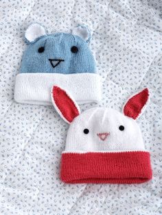Knit Hats with Ears | Yarn | Free Knitting Patterns | Crochet Patterns | Yarnspirations FREE KNIT PATTERN