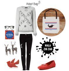 Look casual; mala zigzag; vermelho; preto; adoptbag; animais