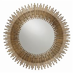 Brilliant detail and a regal design make the Arteriors Home Prescott Round Wall Mirror a showpiece addition to any room in your home. Circular Mirror, Round Wall Mirror, Round Mirrors, Mirror Mirror, Mirror Ideas, Mirror Bedroom, Mirror Collage, Bathroom Mirrors, Mirror Image