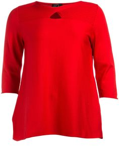 A-line cotton jumper in Red designed by Peterseim to find in Category Knitwear at navabi.de