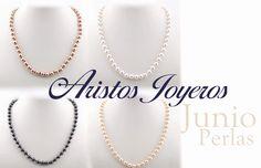 En junio hermosos collares de perlas para que combines a tu gusto!! #Perlas #Elegancia #Moda #Belleza