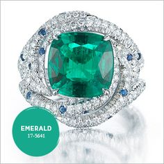 Fall 2013 Color Jewelry Trends - Paolo Costagli Emerald Ring - Emerald