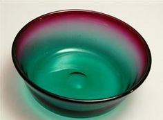 Lauritz.com - Glas - Willy Johansson (1921-1993) for Hadeland, skål, 1955 - NO, Oslo, Sannergata 3 Oslo, Punch Bowls, Iridescent, Norway, Scandinavian, Glass Art, Vintage, Collection, Auction