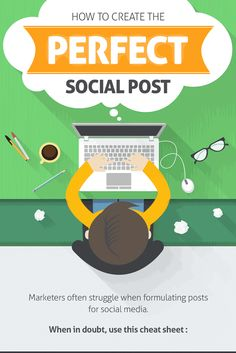 Learn how to create the perfect social media post. This infographic provides a winning recipe for creating perfect social media posts everytime!