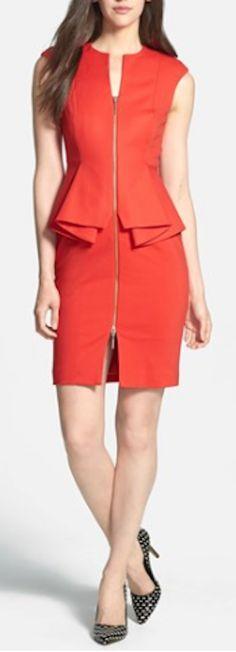 cute orange peplum dress http://rstyle.me/n/qervmr9te