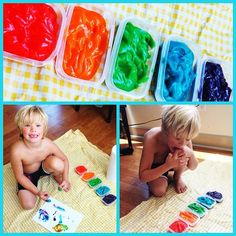 Camp Mom: Pudding Painting. Has alot of good ideas!