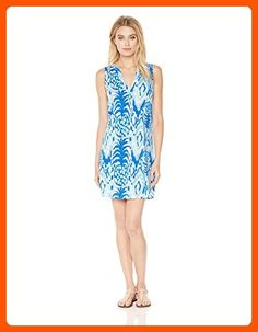 Lilly Pulitzer Women's Dev Dress, Serene Blue Tropics Call Me, L - All about women (*Amazon Partner-Link)