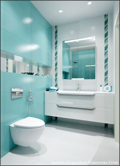 Green water in decoration – 45 modern ideas and inspiring tips! Bathroom Design Luxury, Modern Bathroom Decor, Modern Bathroom Design, Bathroom Colors, Bathroom Styling, Small Bathroom, Colorful Bathroom, New Interior Design, Shower Remodel