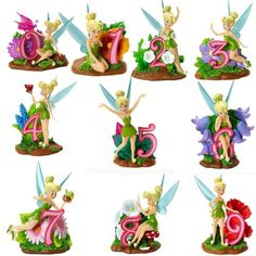 Disney Tinker Bell Number 0 To 9 Age Figurine Collection Birthday Cake Topper