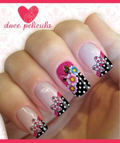 Películas, ou, Adesivos, Unhas, Modelo, Flores, Vivas, Adesivos, para, Unhas, Películas, para, Unhas, Esmaltes, Doce, Película Crazy Nail Art, Crazy Nails, Fancy Nails, Diy Nails, Cute Nails, Pretty Nails, Fabulous Nails, Perfect Nails, Spring Nails