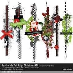 Readymade Tall Strips: Christmas No. 04- Studio Double-D Elements- EL482640- DesignerDigitals