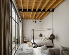 Mexican House Impresses with Exposed Wooden Ceiling Beams - InteriorZine House Design, Room, Weekend House, Home, Bedroom Interior, Cheap Home Decor, House Interior, Wooden Ceilings, Interior Design
