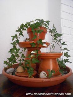 1 Projeto por mês - Fonte de água com vasinhos - DIY