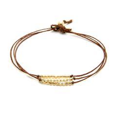 gold dipped sparkle bracelet, tobacco irish linen