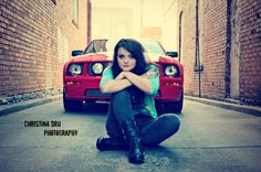 I want to take some pictures with my car once I get it :) perfect practice for my photog class! Horse Senior Pictures, Photography Senior Pictures, Senior Photos Girls, Senior Girls, Girl Photography, Portrait Poses, Senior Portraits, Mustang Girl, Solo Photo