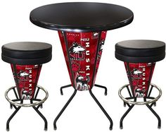 Northern Illinois Huskies D1 Black Lighted Pub Table Set. Two additional Stools are optional. Visit SportsFansPlus.com for details.