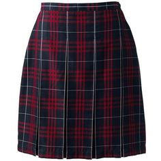 School Uniform Plaid Box Pleat Skirt Top of the Knee from Lands' End ❤ liked on Polyvore featuring skirts, bottoms, faldas, uniform, lands' end, lands end skirts, tartan skirt, blue skirt and plaid skirt