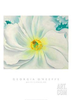 White Flower, 1929 Art Print by Georgia O'Keeffe at Art.com