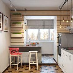 Обладателям кухни с балконом посвящается. Что разместить на дополнительной площади, где оборудовать стол и какой гарнитур выбрать дизайнеры из ДА-Дизайн рассказали о своем новом проекте...