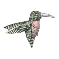 This Hummingbird Brooch Pin Will Enhance Any Blouse, Jacket, Coat Or Scarf.  It Is Made In Our Middlebury, Vermont Workshop From Fine Lead Free Pewter  And ...