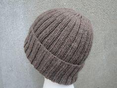 Brown Knit Hat Beanie Wool Blend Men/Teens/Women by Girlpower