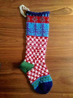 Knit+Christmas+Stocking+Pepperminty+by+BrightAndCozyKnits+on+Etsy