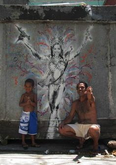 Wooster Collective: Fresh Stuff From Nazza stencil in Río de Janeiro Art Painting Images, Art Images, Christ The Redeemer, Tropical Forest, One Image, Most Beautiful Cities, Pictures To Paint, Art History, Cool Photos