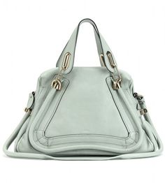 Oeuvre d'art  ! Chloé Paraty Medium Leather Shoulder Bag in Green (mint) - Lyst