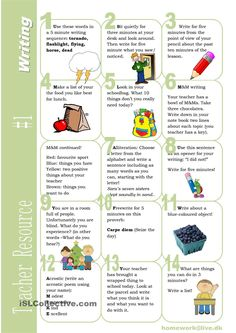 Teacher Resource 1 Writing
