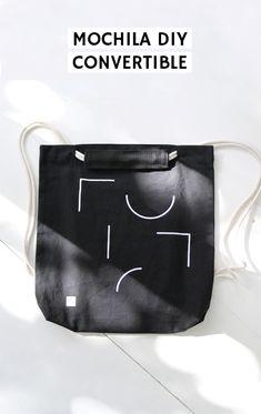 Mochila minimal convertible | 2nd Funniest Thing Convertible, Gym Bag, Minimalism, Lunch Box, Diy, Crafty, Funny, Bags, Shape