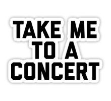 """""""Take me to a concert stickers"""" Women's Fitted Scoop T-Shirts by MadEDesigns   Redbubble"""