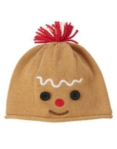 915 NWT Gymboree Holiday Shop Gingerbread Man Sweater Hat Sz: 18-24 months  #Gymboree