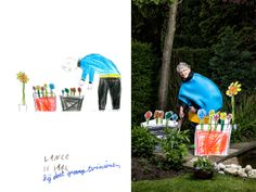 Artist brings kids' drawings to life, turning senior citizens into superheroes