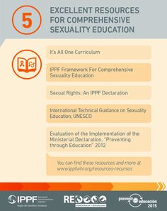 Infographic: 5 excellent resources for comprehensive sexuality education.