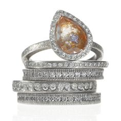 Palladium Alliance Palladium stacked rings by Todd Reed  - 5 Faves for Fall on InStyle