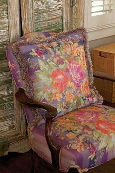 Bohemian Floral Chair! So Boho! <3 <3