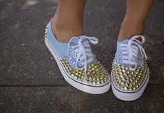 DIY Studded Vans- need to get on this ASAP!
