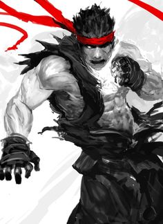 Messing with a Evil Ryu doodle earlier today #streefighter #art #Ryu pic.twitter.com/K6LEpckRqp