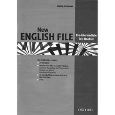 New English File Pre-Intermediate Test Booklet English File, English Test, Learn English, Grammar Activities, English Activities, Teacher Books, Filing, Ebook Pdf, Booklet