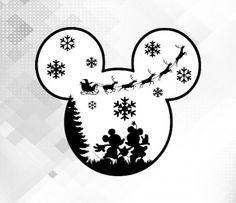 Disney Diy, Disney Crafts, Disney Trips, Disney Christmas Shirts, Mickey Mouse Christmas, Merry Christmas, Mickey Minnie Mouse, Christmas Decals, Xmas