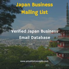 Want to expand your business in Japan? Acquire updated, verified, highly-targeted Japan Business Mailing Lists for your brand promotion and lead generation. We maintain the largest and most authentic Contact Lists for Japan Business Executives.