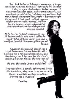 Tina Fey = nothing more to say