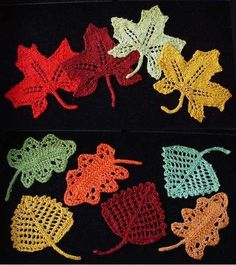 Fall Crochet Leaves sewing-knitting-crochet