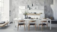 bulthaup b1 Copenhagen, bulthaup C2 dining table & Carl Hansen Elbow Chairs