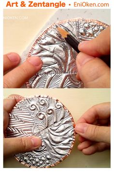 Broadminded ascertained diy metal projects ideas visit this website Tin Foil Art, Aluminum Foil Art, Aluminum Can Crafts, Metal Crafts, Aluminium Foil, Soda Can Crafts, Art Texture, Pewter Art, Metal Tape