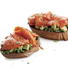 Open-Face Smoked Salmon and Avocado Sandwiches